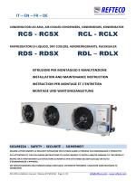 RCS - RCSX RCL - RCLX RDS - RDSX RDL – RDLX