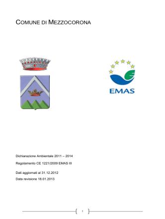 Agg. dichiarazione Ambientale 2013