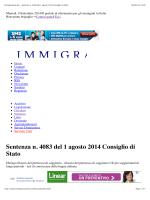 Immigrazione.biz - Sentenza n. 4083 del 1 agosto