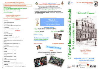 1° Festival Internazionale di Scacchi
