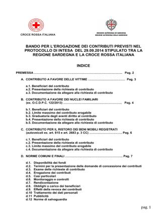 Croce Rossa Italiana - Regione Autonoma della Sardegna
