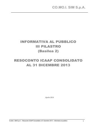 Basilea 2 - III Pilastro - Informativa al pubblico