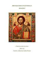 programma pastorale 2014/2015 - Diocesi di Pitigliano