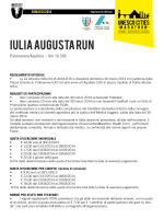 IULIA AUGUSTA RUN - Unesco Cities Marathon
