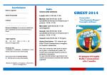 Brochure Grest 2014 - Parrocchia Consiglio di Rumo