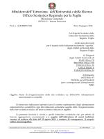 Ministero dell - Ufficio Scolastico Regionale per la Puglia