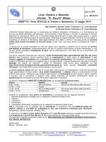 073 Prove INVALSI di Italiano e Matematica 13 maggio 2014
