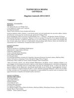 Programma stagione teatrale 2014 2015 Teatro della Regina