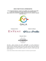 Documento di Ammissione, Gala - AIM