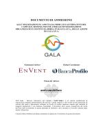 Documento di Ammissione, Gala - AIM