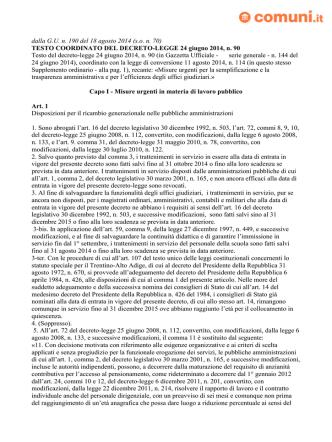 dalla G.U. n. 190 del 18 agosto 2014 (s.o. n. 70) TESTO