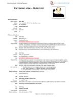 Curriculum vitae – Giulio Lizzi