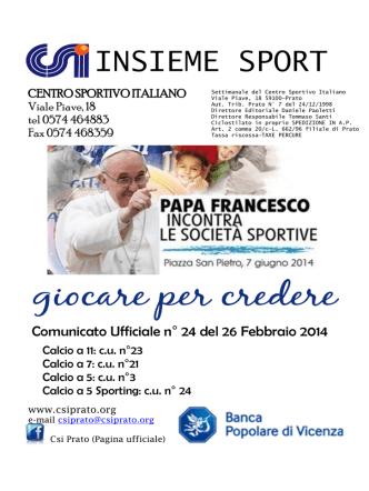 cu 24 - Centro Sportivo Italiano