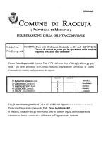la giunta comunale - Comune di Raccuja