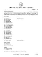 Titolo Classe Fascicolo - Università di Palermo
