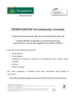 DIMENSIONE Investimento Aziende