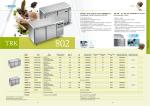 TRK 802 – Tavoli refrigerati ventilati EN400x600 per la