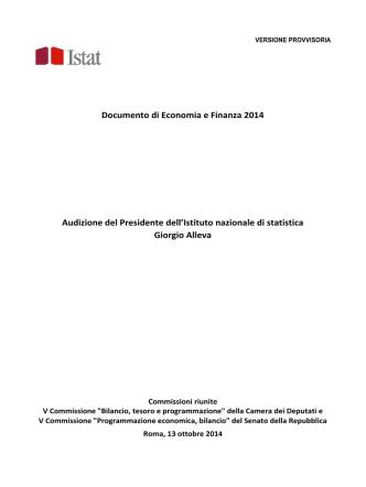 Audizione Alleva suDEF 2014_ ISTAT