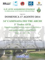 DOMENICA 17 AGOSTO 2014 34° CAMINADA DEI TRE ARCHI 5