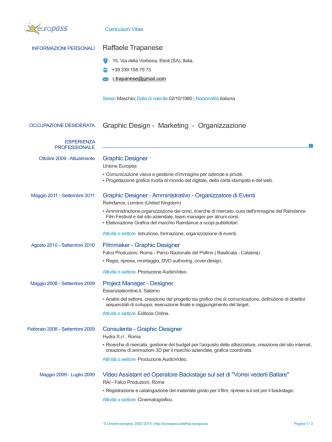 Curriculum 2014 - Raffaele Trapanese