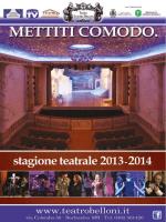la brochure della stagione Belloni 2013/2014