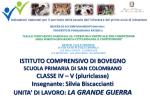 10. UD LA GRANDE GUERRA Scuola Primaria Bovegno S