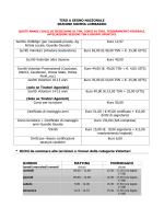 Tariffe Iscrizioni - TSN Somma Lombardo