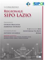 i congresso regionale sipo - SIPO - Società Italiana di Pediatria