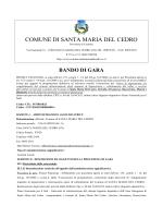 bando di gara - Comune di Santa Maria del Cedro