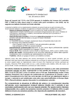 Trattativa per il rinnovo del Ccsl Fiat e CNH Industrial