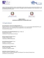 Elenco dei progetti menzionati e premio speciale