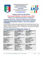 C.U. n. 58 L.N.D.-S.G.S. del 21.03.2014