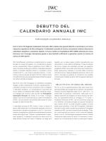 DEBUTTO DEL CALENDARIO ANNUALE IWC