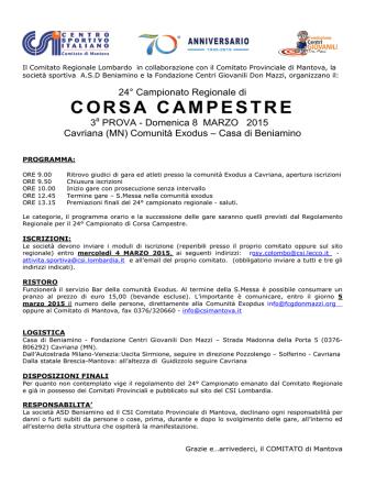 8 febbraio Cavriana 3^ prova campestre - Atletica