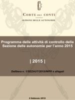 Sezione delle Autonomie - Delibera n. 1/2015/INPR