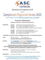 Campionato Regionale A.S.C. 2015