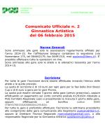 Comunicato n. 2 - PGS Provinciale Roma