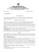 Avviso Pubblico Prot. n. 328/B15 del 06/02/2015
