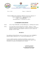 Decreto pubblicazione graduatoria definitiva personale A.T.A. II fascia