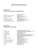Scaletta canti Settimana Santa - PIEVE di SANTO STEFANO IN PANE