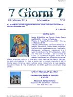 15 Febbraio 2015 Informazioni N° 7