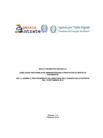 BOLLO TELEMATICO_Linee Guida per PA e PSP_v.1.0