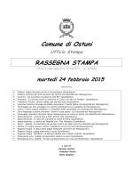 Comune di Ostuni RASSEGNA STAMPA - Host