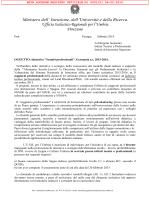 Nota prot. n. 1101 del 06/02/2015 - Ufficio Scolastico Regionale per