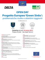 Progetto Europeo `Green Sink` - Università degli Studi di Camerino