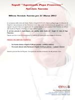 Itinerario 6 - Visita di Papa Francesco a Napoli 21 marzo 2015