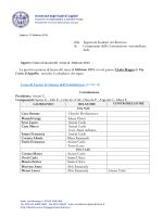 calendario - I blog di Unica - Università degli studi di Cagliari.