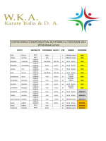 Mondiali WTKA 2014 - Wka Karate Italia OFFICIAL SITE