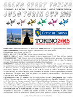 JUDO TURIN CUP 2015 - Crono Sport Torino