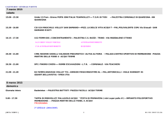 CALENDARIO GENERALE PARTITE (aggiornato il 27/02)